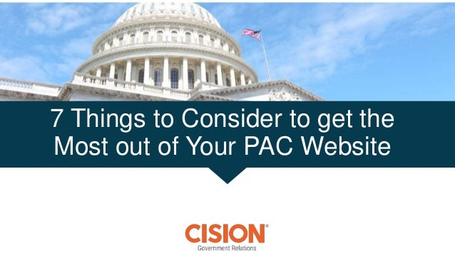 7 Things to Consider to get the Most out of Your PAC Website