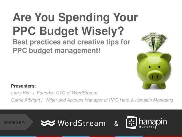 Presenters: Larry Kim | Founder, CTO of WordStream Carrie Albright | Writer and Account Manager at PPC Hero & Hanapin Mark...