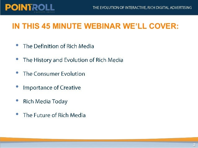 The Evolution of Interactive, Rich Digital Advertising (2012) Slide 2
