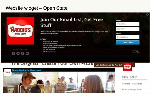Website widget – Open State