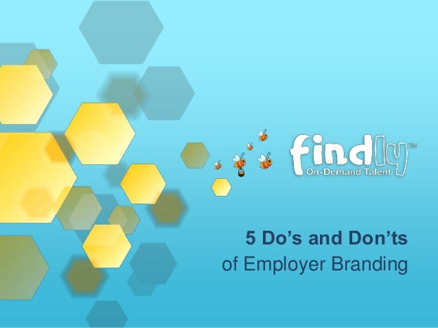 5 Do's and Don'ts of Employer Branding