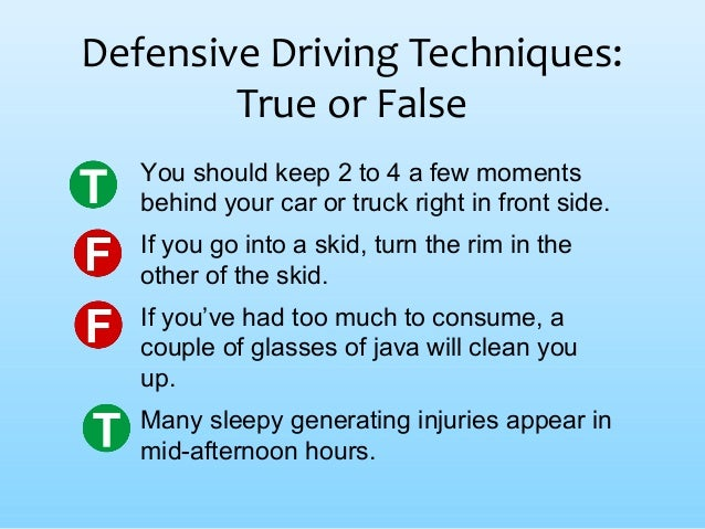 driving defensively strategically essay Driving is a full time activity and all attention should remain on the road you need to be aware of your surroundings at all times concentrate not only on what is happening in front of you, but also anticipate what may occur further on.