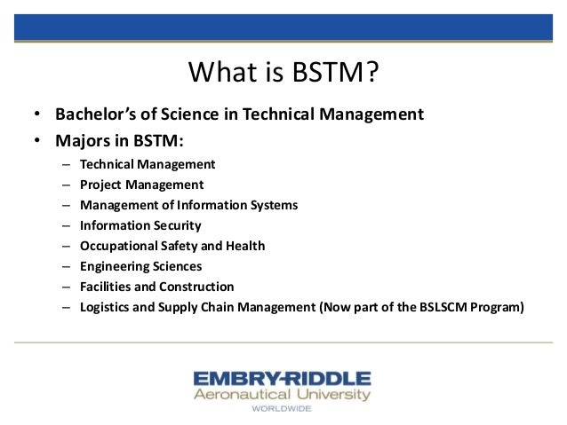 Erau Degree Briefing Bs Technical Management And Mba In
