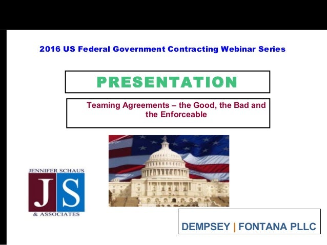 FEDERAL Govt Contracting Teaming Agreements Good Bad