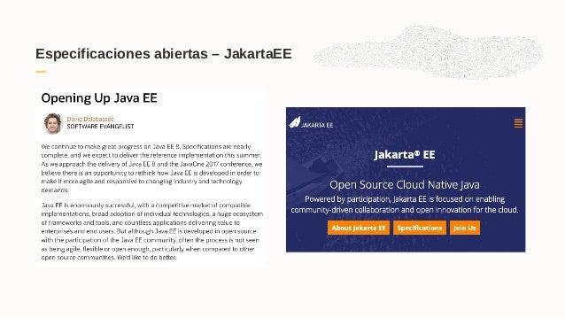 Especificaciones abiertas – JakartaEE