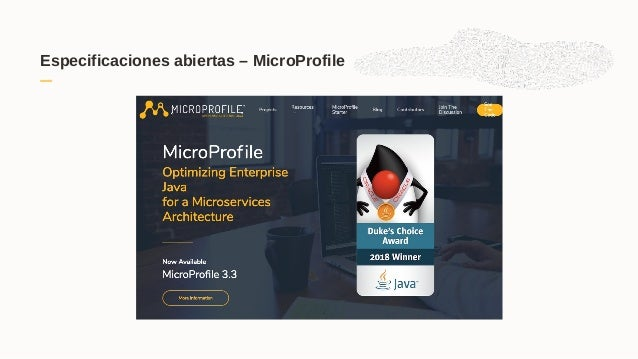 Especificaciones abiertas – MicroProfile