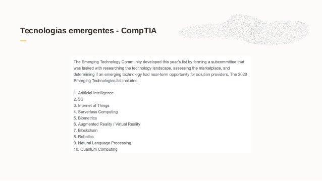 Tecnologias emergentes - CompTIA