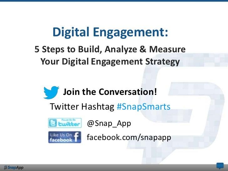 Digital Engagement:5 Steps to Build, Analyze & Measure Your Digital Engagement Strategy      Join the Conversation!   Twit...