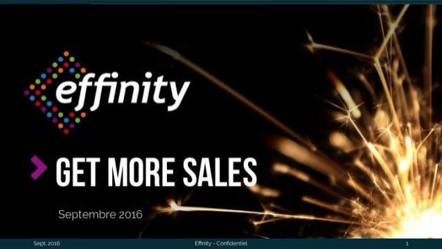 GET more salesSeptembre 2016 Sept. 2016 Effinity - Confidentiel 1