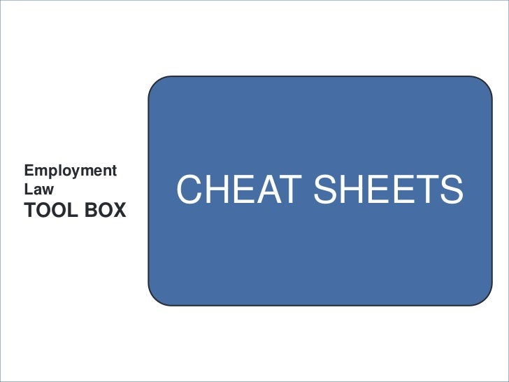 2012 Employment Law Tool Box