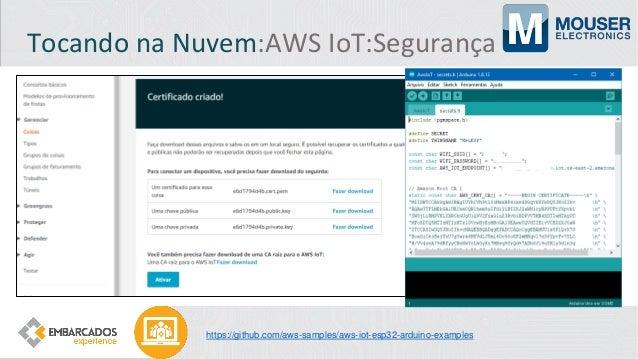 Tocando na Nuvem:Azure IoT:Segurança https://azure.microsoft.com/pt-br/services/azure-sphere/ https://www.microsoft.com/en...