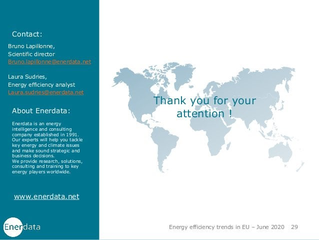 www.enerdata.net Thank you for your attention ! Contact: About Enerdata: Enerdata is an energy intelligence and consulting...