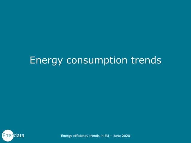 Energy consumption trends Energy efficiency trends in EU – June 2020