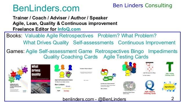 Webinar enhancing quality and testing in agile teams - PractiTest - Ben Linders Slide 2