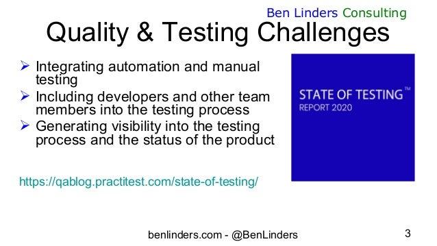 Webinar enhancing quality and testing in agile teams - PractiTest - Ben Linders Slide 3