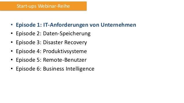 Webinar AWS für Unternehmen Teil 1: IT-Anforderungen von Unternehmen Slide 3