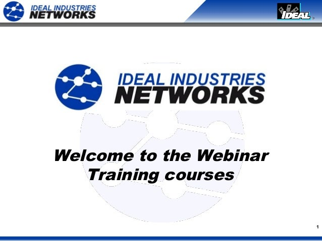 1Welcome to the WebinarTraining courses
