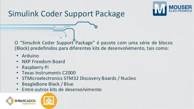 PIL (Processor-In-the-Loop) Em uma simulação PIL, o código gerado é executado no kit de desenvolvimento (no meu caso NXP F...
