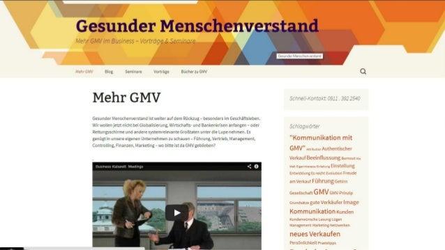 GMV im Business Gesunder Menschenverstand?