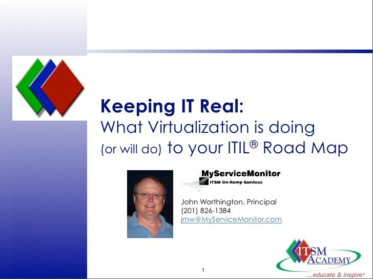 Keeping IT Real:                  What Virtualization is doing                  (or will do) to your ITIL® Road Map       ...