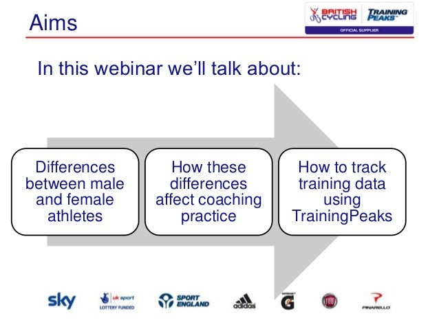 Aims In this webinar we'll talk about:  Differences between male and female athletes  How these differences affect coachin...