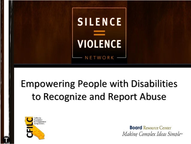 Empowering People with Disabilities to Recognize and Report Abuse