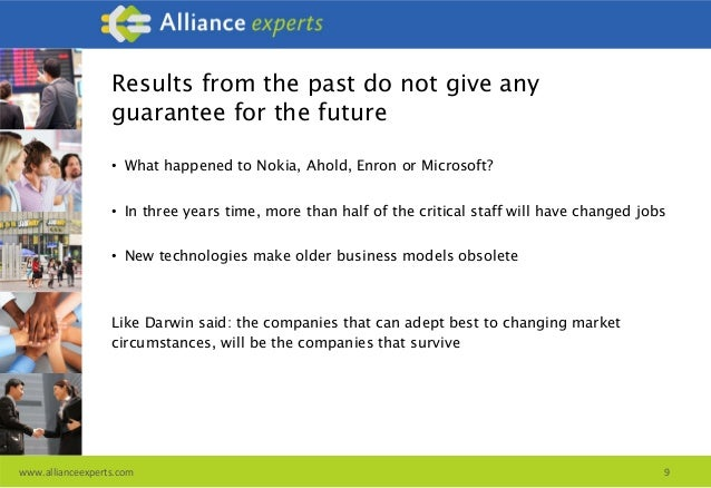 Financial valuation of alliances and partnership