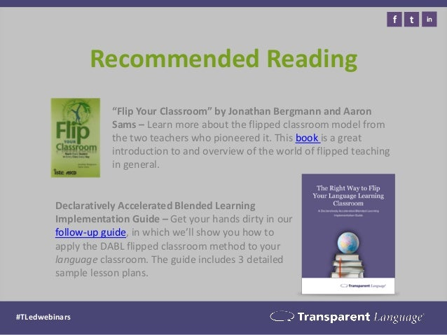 Recommended Reading  Declaratively Accelerated Blended Learning Implementation Guide – Get your hands dirty in our follow-...