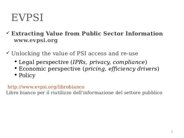 Informazione del settore pubblico: orientamento europeo e attuali tendenze Slide 2