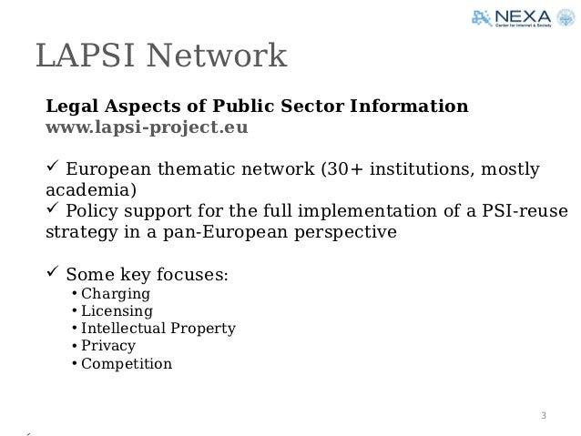 Informazione del settore pubblico: orientamento europeo e attuali tendenze Slide 3
