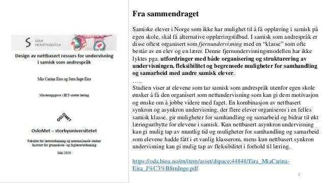 Webinar for nettlaerere i samisk Slide 3