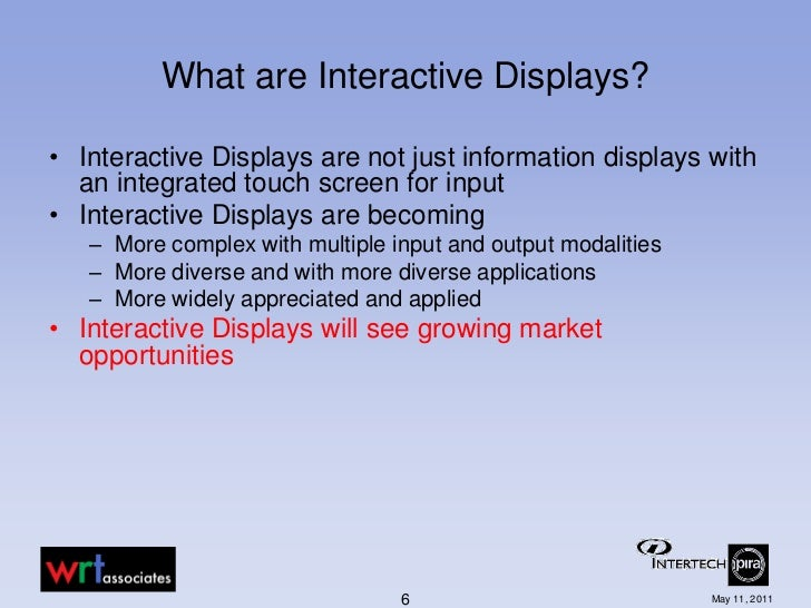 Interactive Display Market: Global Industry Analysis and Forecast 2015 - 2021