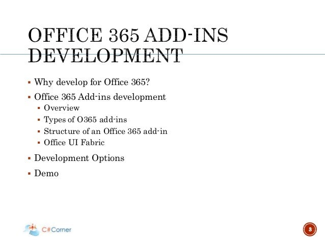 Webinar getting started with office 365 add ins development