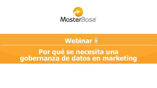 Webinar Por qué se necesita una gobernanza de datos en marketing