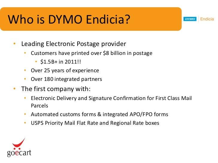 DYMO Endicia & GoECart Free Shipping Webinar