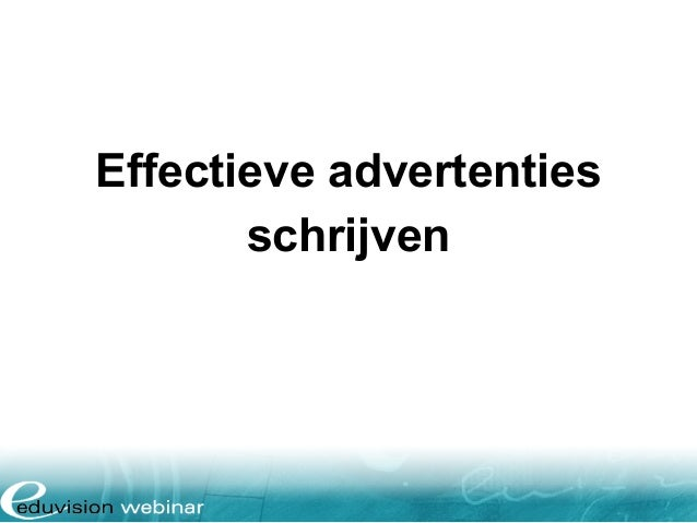 Effectieve advertenties schrijven