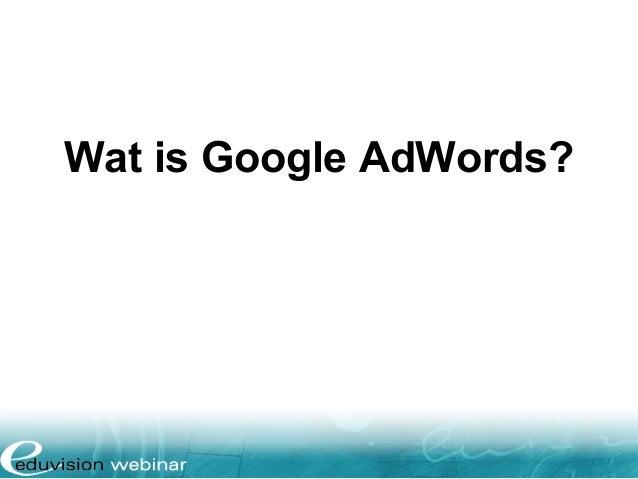 Wat is Google AdWords?