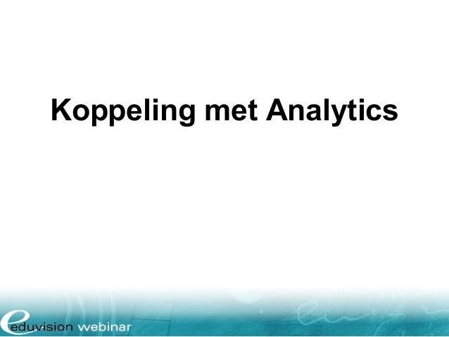 Koppeling met Analytics
