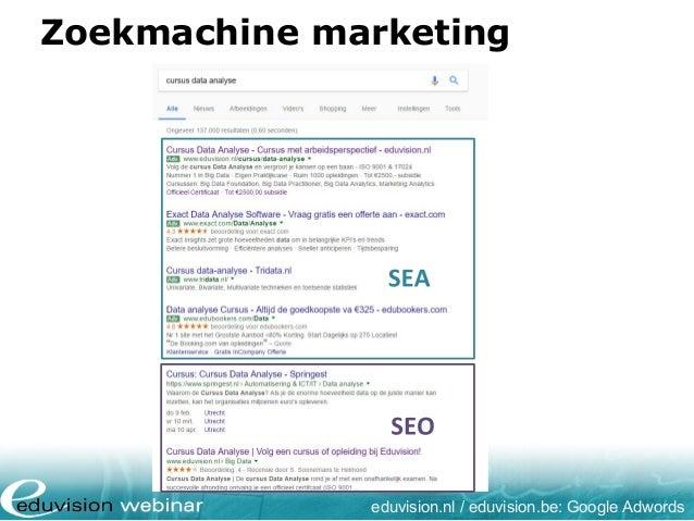 Zoekmachine marketing eduvision.nl / eduvision.be: Google Adwords