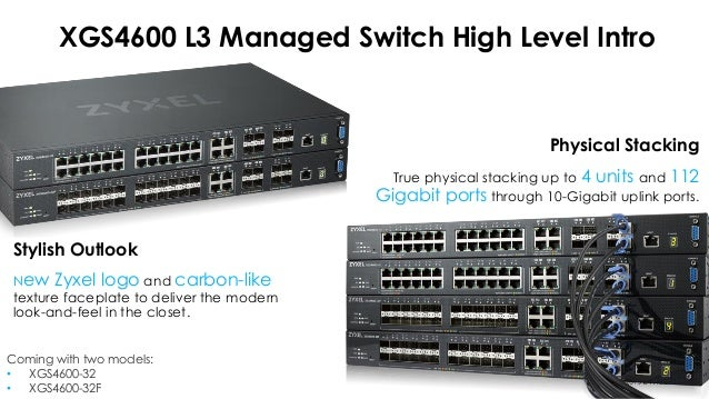 28 port GbE L3 managed Switch with 4 SFP+ uplink Zyxel XGS4600-32F
