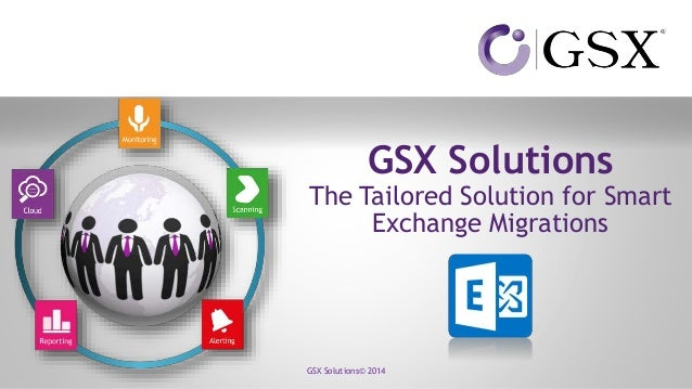 GSX Solutions The Tailored Solution for Smart Exchange Migrations GSX Solutions© 2014