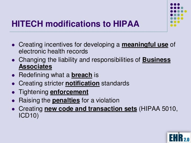 hipaa hitech For those who wish to read the entirety of hipaa and hitech and its current  requirements, skip to the end of this post and follow the links.