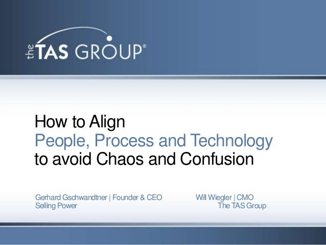How to AlignPeople, Process and Technologyto avoid Chaos and ConfusionGerhard Gschwandtner   Founder & CEO   Will Wiegler ...