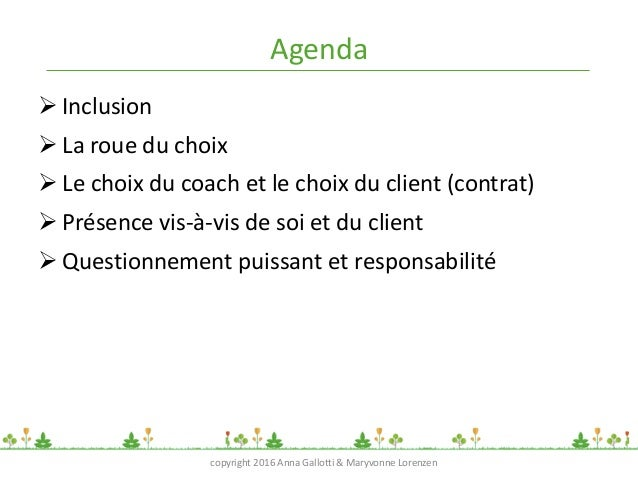 """ICF Synergie : """"Acquérir plus de lucidité en tant que coach"""" d'Anna Gallotti et Maryvonne Lorenzen - SLIDEs Slide 3"""