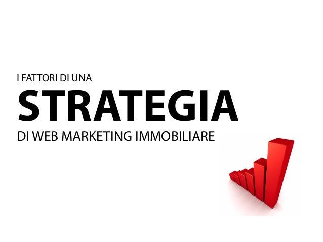 I FATTORI DI UNASTRATEGIADI WEB MARKETING IMMOBILIARE
