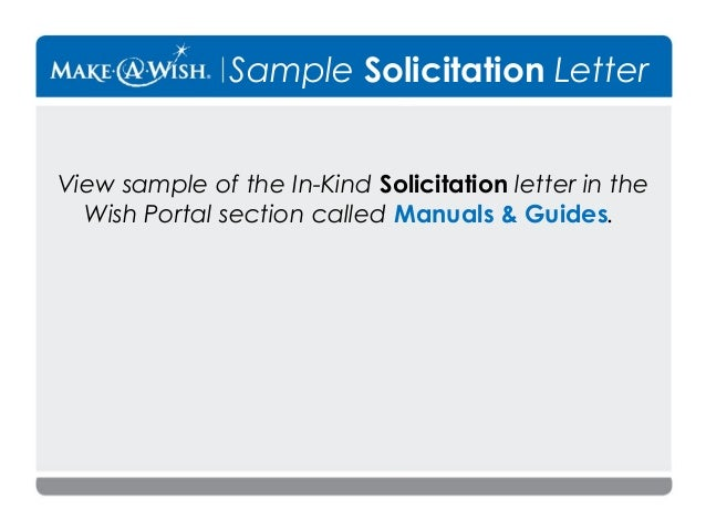 11 sample solicitation letter