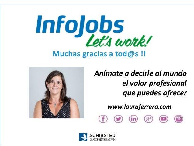 21 Muchas gracias a tod@s !! Anímate a decirle al mundo el valor profesional que puedes ofrecer www.lauraferrera.com