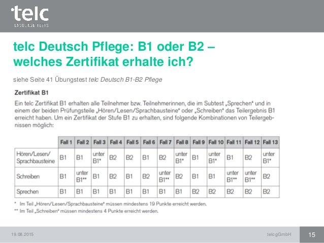 Briefe Schreiben B2 Telc : Informationen rund um telc deutsch b pflege und