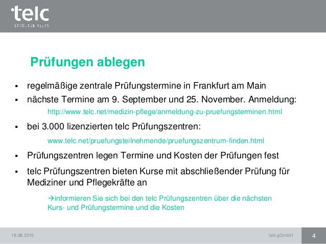 Informationen Rund Um Telc Deutsch B1 B2 Pflege Und Telc Deutsch B2 C