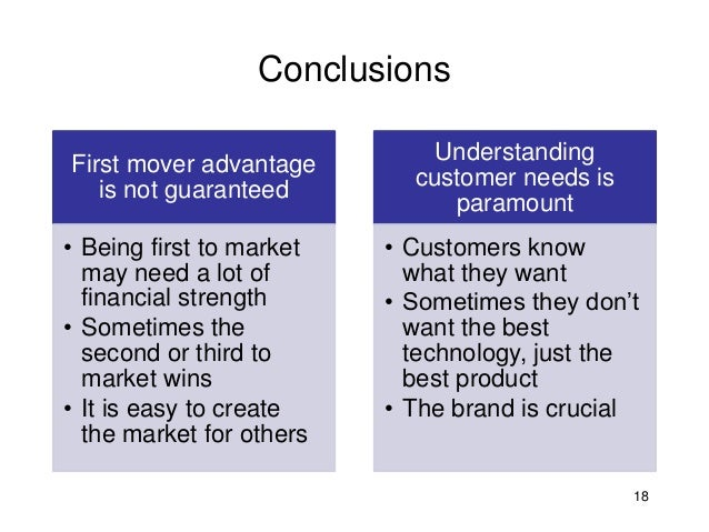 an analysis of first mover advantage Q1 mr smith, ceo of gm, is using a cost benefit analysis dss this is most likely helping him improve efficiency effectiveness interoperability.